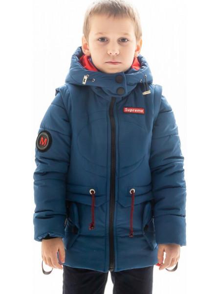Куртка Тобиас демисезонная д/мал (джинс/красный)