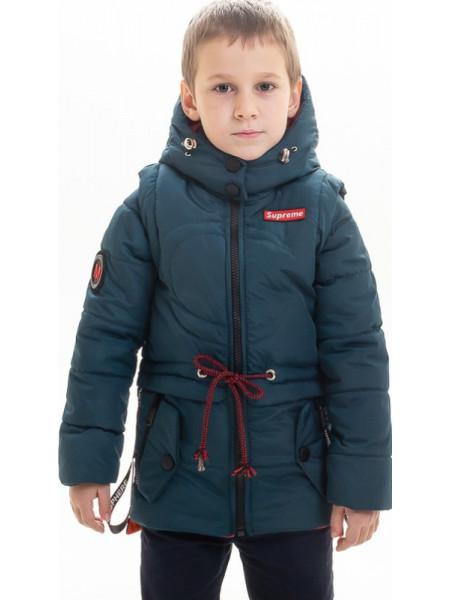 Куртка Тобиас демисезонная д/мал (бутылка/оранжевый)