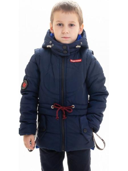 Куртка Тобиас демисезонная д/мал (синий/электрик)