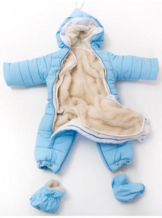 Комбинезон-конверт МИШУТКА от 0 до 12мес (голубой)