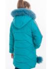 Куртка ИВАННА зимняя (бирюза)
