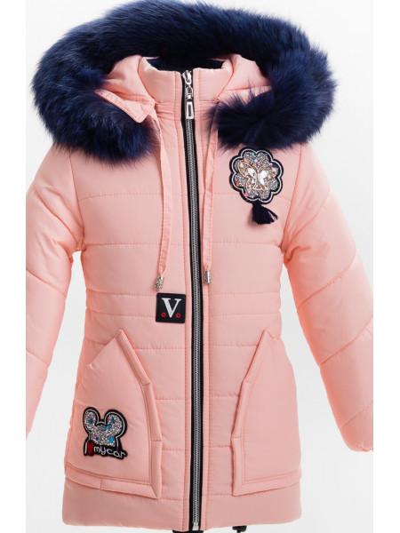 Зимняя куртка АЛЬБА д/дев(персик)