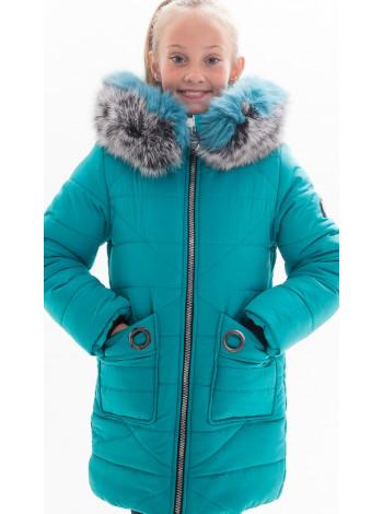 Зимняя куртка ЮНОНА д/дев(бирюза)