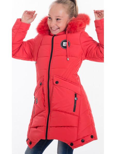 Зимняя куртка ИВЕТТА д/дев(коралл)