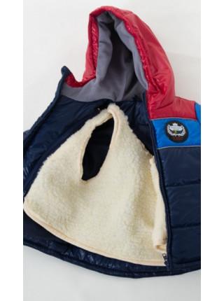 Куртка зимняя д/мальч. РУСЛАН (синий+красный+серый)