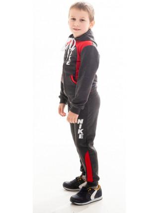 Детский спорт. костюм РАИС д/мальч (т.серый+красный)