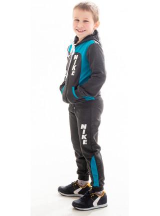 Детский спорт. костюм РАИС д/мальч (т.серый+голубой)