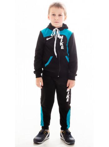 Подростковый спорт.костюм РАИС д/мальч (черный+голубой