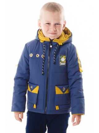 Куртка Эдвард демисезонная (синий+желтый)