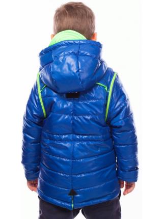 Куртка-жилет МУЛЬТИК демисезонная (электрик+салатовый)