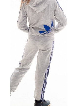Подростковый спорт.костюм ТРЕНД унисекс (св.серый+синий)