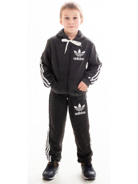 Детский спорт.костюм ТРЕНД д/мальч. (т.серый+белый)