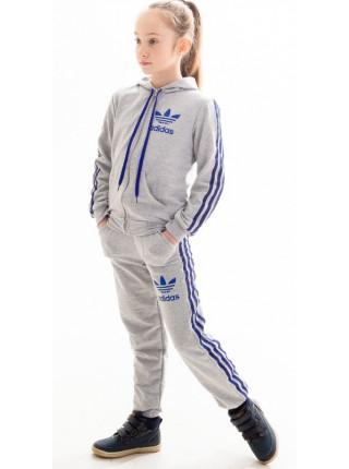 Детский спортивный костюм Аделаида (серый+электрик)