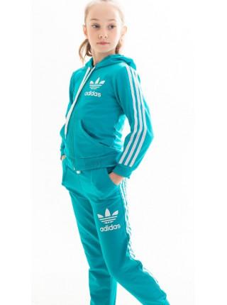 Подростковый спортивный костюм Аделаида (голубой)