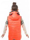 Куртка-жилет МАКСИ демисезонная д/дев.(коралл+горох)