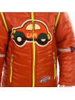Куртка-жилет МУЛЬТИК демисезонная (кирпичный+желтый)