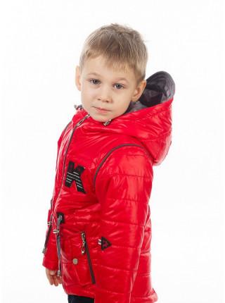Куртка-жилет НАШИВКА демисезонная (красный)