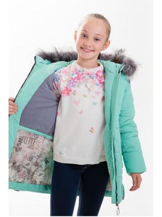 Куртка ЛИАНА зимняя (мята)