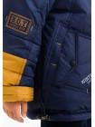 Куртка ВЕНЯ зимняя д/мал(синий/желтый)