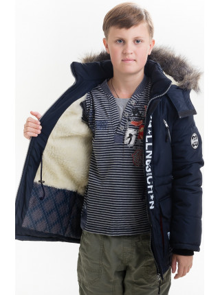 Куртка ТОНИ зимняя д/мал(синий/красный)